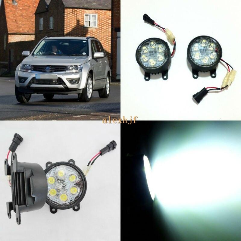 July King 18 W 6 LED s H11 LED boîtier de montage de feux de brouillard pour Suzuki Grand Vitara MK II 2005-2015, 6500 K 1260LM feux de jour
