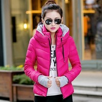 2015 Winter Outerwear Small Cotton Padded Jacket Plus Size Wadded Jacket Female Cotton Padded Jacket Down