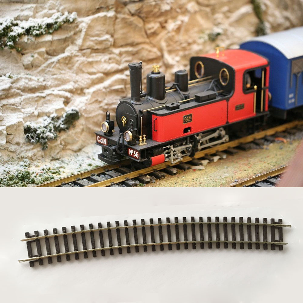 2pcs HO Scale Train 1 87 Rail Railroad Layout Track Train Track Scenery Model Essential Accessories For Diorama Miniature Train in Model Building Kits from Toys Hobbies