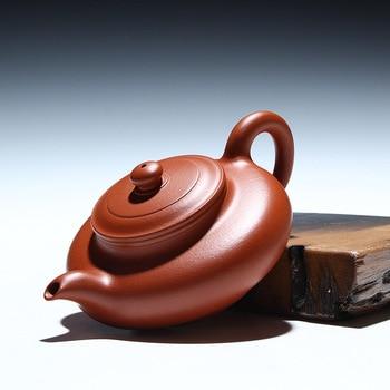 120ml Handmade Authentic Boutique Yixing Purple Clay Zhu Ni Shuibian Tea Pot Small Capacity Tea Set Kettle Kung Fu Puer Teapot