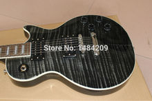 Nickel black Chad Kroegar Signatuer Blck water Les electric guitar musical instrument,transparent black