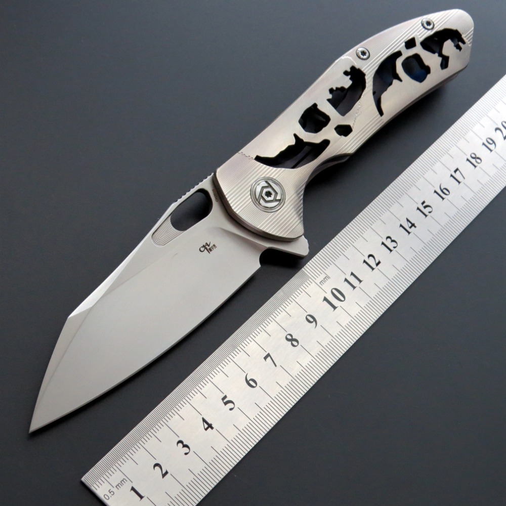 Eafengrow CH3515 Flipper folding knife S35VN Blade ball bearings TC4  handle camping hunting pocket Knives Outdoor EDC tool