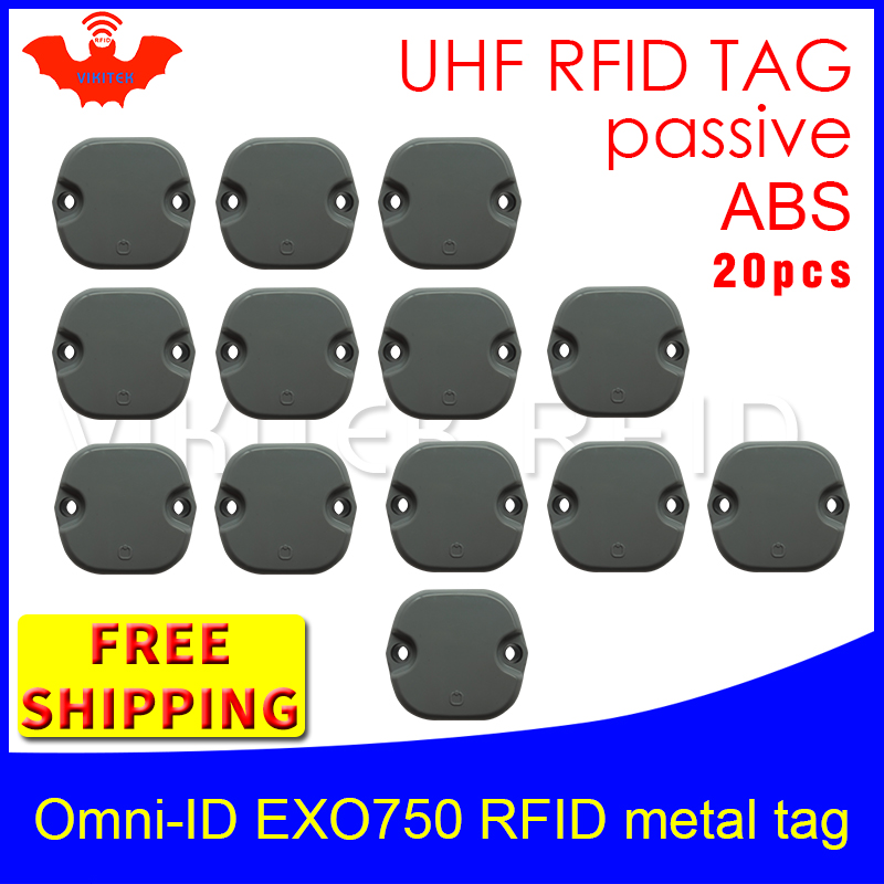 UHF RFID metal tag omni-ID EXO 750 915m 868mhz Impinj Monza4QT EPC 20pcs free shipping durable ABS smart card passive RFID tags hot sale 7pcs set of 12mm cnc lathe turning tool holder boring bar with dcmt tcmt ccmt cutting insert with wrench