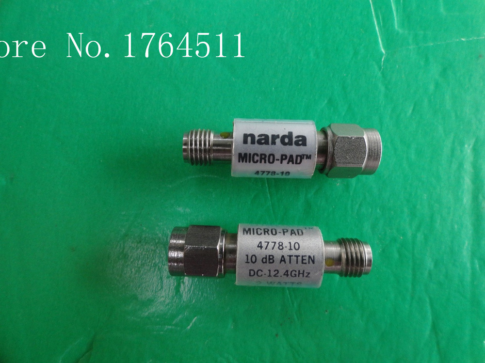 [BELLA] NARDA 4778-10 DC-12.4GHz 10dB 2W SMA Coaxial Fixed Attenuator  --2PCS/LOT