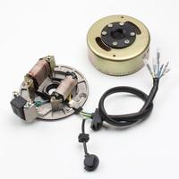 LIFAN LF125cc Horizontal Kick Start Engine Magneto Coil Stator Kit KAYO Pit Pro Dirt Pit Bike Engine Parts