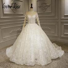 Lover Kiss Vestido De Noiva Renda Princess Lace Wedding Dress Long Sleeve  Beaded Ball Bride Gowns 2019 Design Luxury Brautkleid 81a8d6ed6c79