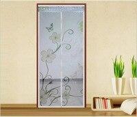 FUYA New Printing Item Hands Free Magnetic Door Screen Mosquito Net Magic Sheer Curtains Spring Item