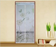 FUYA New Printing Item Hands Free Magnetic Door Screen Mosquito Net Magic Sheer Curtains Spring item
