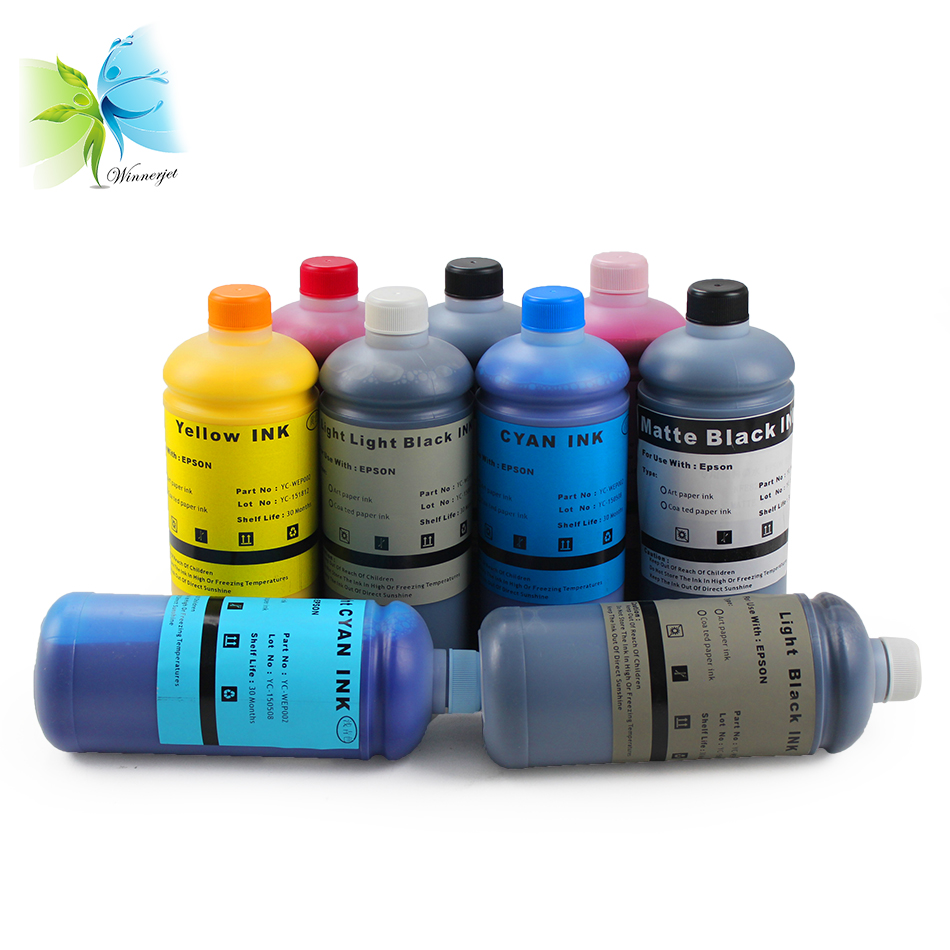 Winnerjet 1000ml bottle Art Paper ink For Epson Pro 7890 9890 printer in Ink Refill Kits from Computer Office