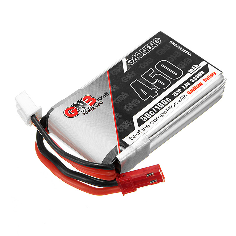 Rechargeable Lipo Battery Gaoneng GNB 7.4V 450mAh 50C 2S Lipo Battery JST Plug 7 4v 500mah 50c lipo battery