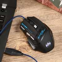 Gamer mouse gamer com fio computador mause ratos para pro gamer 5500 dpi 7 botões led usb óptico mouse sem fio transporte da gota