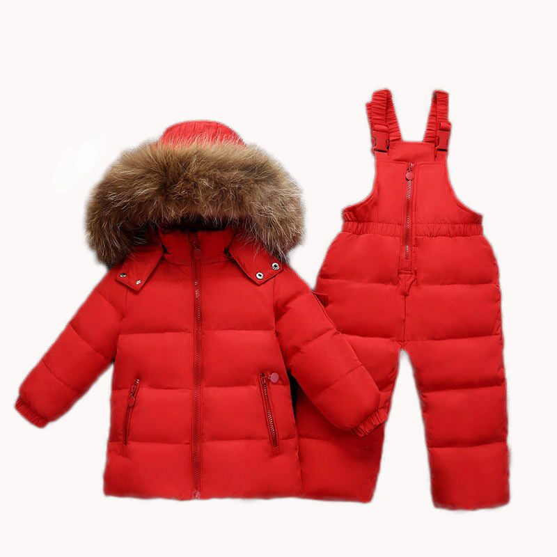 Toddler Boys Girl Clothes Sets Winter Warm Hooded Real Fur Newborn Infant Childrens Down Jacket Children Costume Snow Suit 2018Toddler Boys Girl Clothes Sets Winter Warm Hooded Real Fur Newborn Infant Childrens Down Jacket Children Costume Snow Suit 2018
