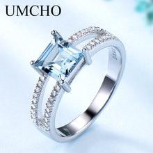 Женское кольцо из серебра 925 пробы с голубым топазом