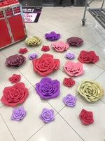 10 см-60 см диаметр. свадебный обычай бумажный цветок стены DIY Пена Цветок фон украшения для вечеринок День рождения детей