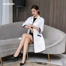 Корейская одежда для косметической хирургии, костюм врача, пальто аптекаря, медицинская униформа для красоты, халаты, лабораторное пальто, больничное женское платье для работы