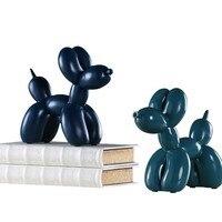 Household Resin Balloon Dog Figurines Resin Craft Dog Miniature Wine Cabinet Display Creative Gift Modern Home Living Room Ideas