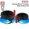 Pixco FMTI Ajustável Focando Helicóide Macro Para Adaptador Infinito Tubo Terno para Nikon G AF-S AI F Lente Para M43 E-P5 E-P3 câmera