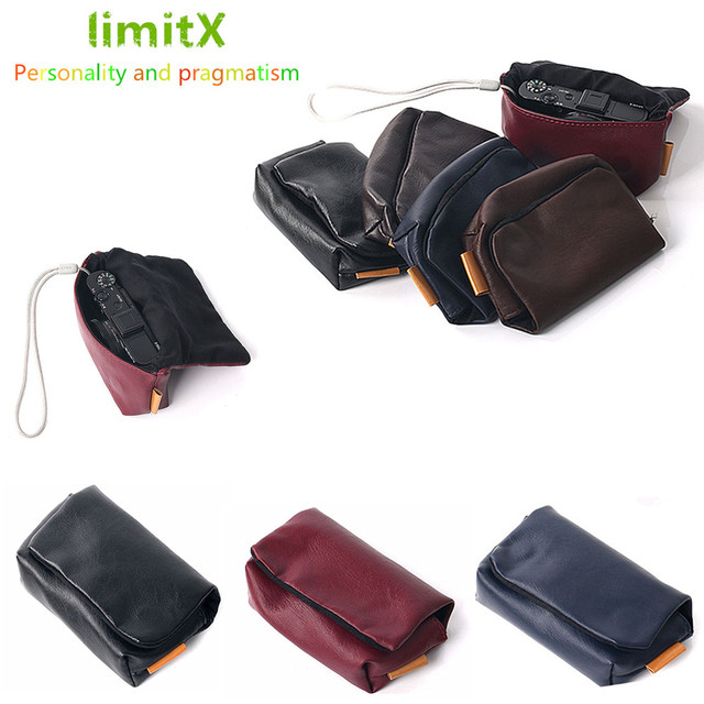 PU Leather Camera Soft Case Bag Cover for Panasonic Lumix DC TZ90 TZ90 TZ91 TZ80 TZ81 TZ70 TZ60 TZ57 TZ50 TZ40 TZ30 TZ20 TZ10