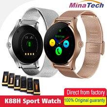 Продажа K88H Смарт часы 1,22 дюймов ips круглый Экран Поддержка сердечного ритма Sport Bluetooth SmartWatch для IOS андроид