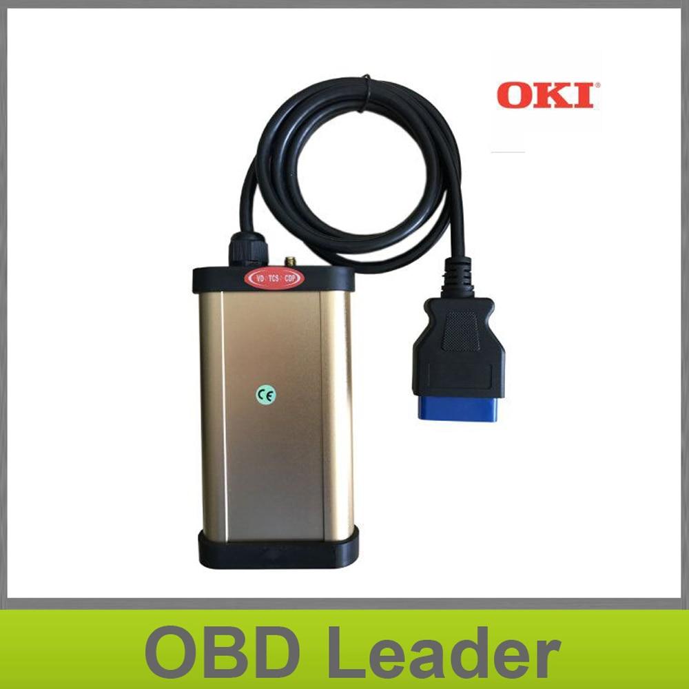 Цена за Best Авто золото CDP + OBD2 инструмент диагностики VD-TCS CDP с OKI (M6636B OKI чип) + Bluetooth для автомобилей и грузовиков mvdiag CDP Pro Plus