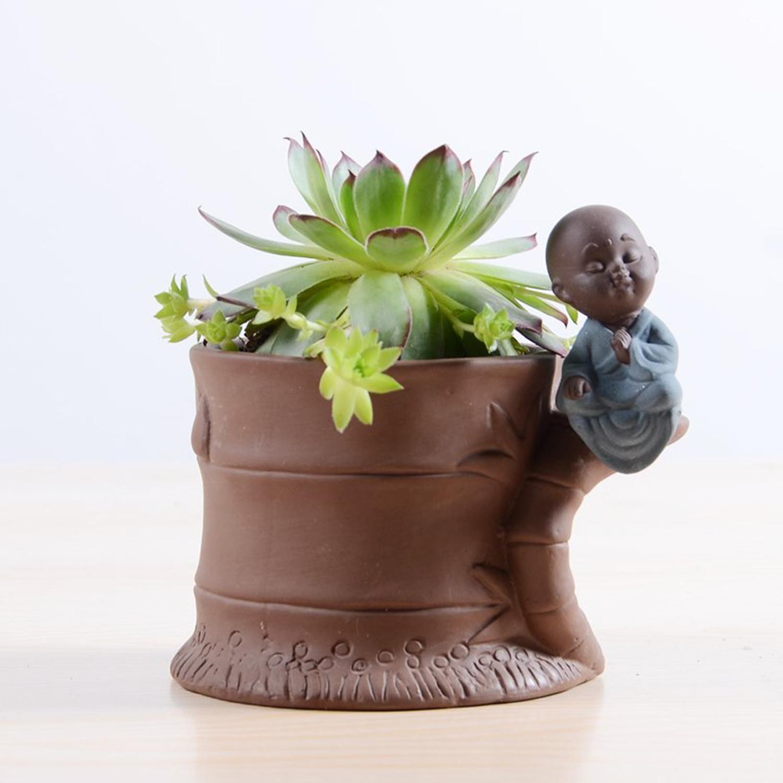 Keramik Bambus junge Cacti Sukkulente Topf Blume Pflanzer ...