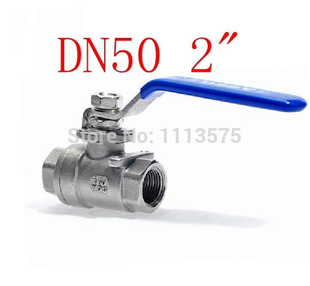 DN50 2 304 stainless steel types of shut off water oil ball valve