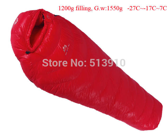 1200g Filling -27C~ -7C! Ultra-light down outdoor goose down sleeping bag outdoor adult breathable thickening sleeping bag goose down 400g 600g 800g 1000g filling ultra light down outdoor goose down outdoor adult breathable thickening sleeping bag