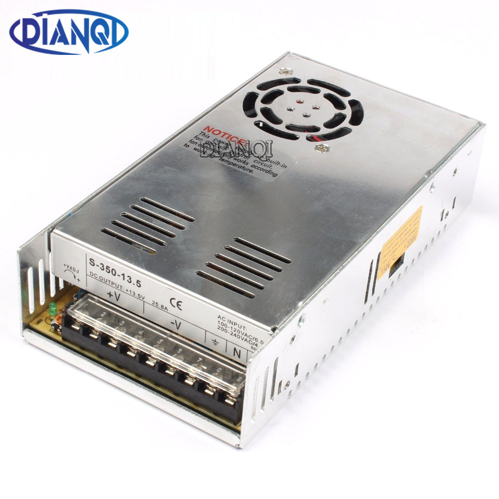 DIANQI power suply 13.5v 350w 25.8A ac to dc power supply ac dc converter high quality S-350-13.5 50a 40a 29a 14.6a 13a 7.3a dianqi high quality s 320 15 power suply 15v 320w 20a ac to dc power supply ac dc converter