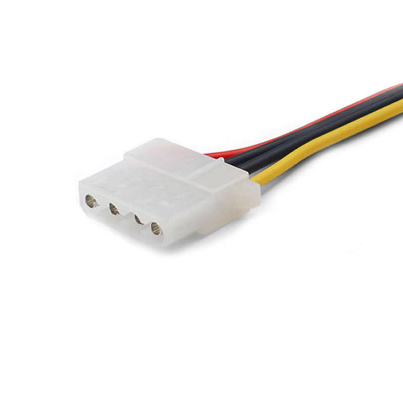 20 CM SATA do IDE kabel zasilający 15 Pin SATA do Molex IDE 4 Pin męski przedłużacz dysk twardy moc kabel zasilający