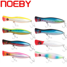 Купить с кэшбэком NOEBY Big Popper Lure 120mm 160mm 200mm Topwater Floating Hard Bait Iscas Artificiais Leurre De Peche Wobbler Sea Fishing Tackle