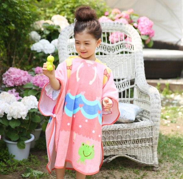 Качественное голубое детское полотенце принцессы с капюшоном и принтом «Звезда океана», банный халат принцессы розового цвета с лягушкой для младенцев и малышей - Цвет: Pink princess