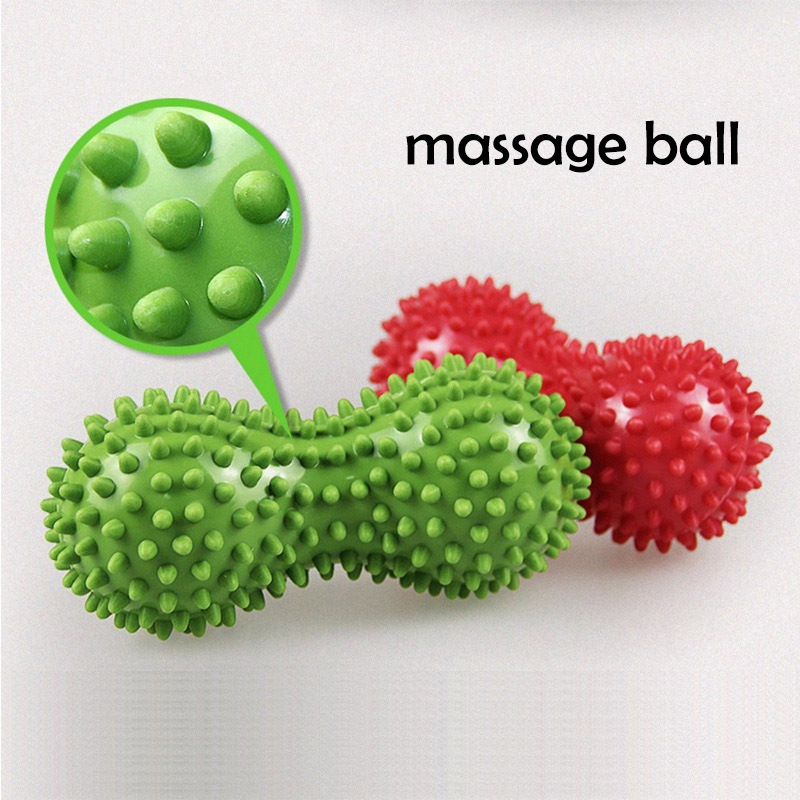 Health Care Peanut Shape Massage Ball EVA Spiky Relieve Pain Tension Relax Muscles Trigger Point Therapy massage Hand Ball A5