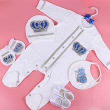 TOKPALON 0-3 Month Newbron baby clothing set white cotton