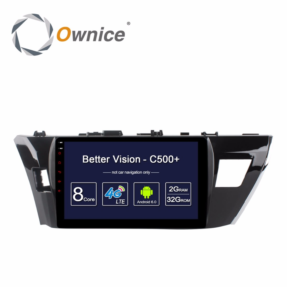 Octa Core 2G RAM+32G ROM Android 6.0 Car DVD Player For Toyota Corolla 2014 2015 Highlander VIOS YARiS L RAV4 GPS Radio