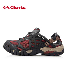 Clorts Men Upstream Shoes Sandal PU Summer Water Aqua Shoes Outdoor Shoes for Beach WT-05B/C/G