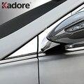 Für Hyundai Sonata i45 2010 -2012 2013 ABS Chrome EIN Säule Fenster Trim Rahmen Auto Spiegel Ecke Halterung Seite spiegel Dekoration