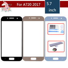 For Samsung Galaxy A7 2017 A720 A720M SM-A720F A720F A720F/DS Front Outer Glass Lens Touch Screen Panel Replacement samsung galaxy a7 2017 sm a720f ds blue