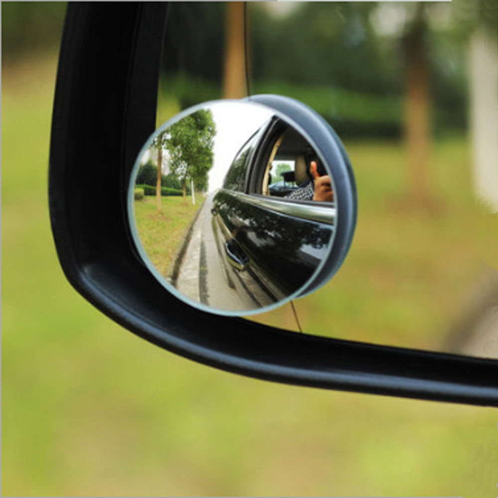 Dewtreetali new hot 2Pcs Car Styling 360 Degree Framless Blind Spot Mirror Wide Angle Round HD Glass Convex Rear View Mirrors