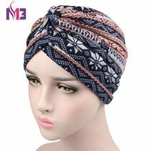 New Fashion Women Wool Turban Warmer Bohemia Style Knitted Headband Hat Muslim Hijab Turbante for