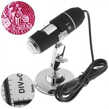 1600X 2MP USB 8 LEDs Electronic Digital Microscope Inspection Camera Magnifier with Metal Stand
