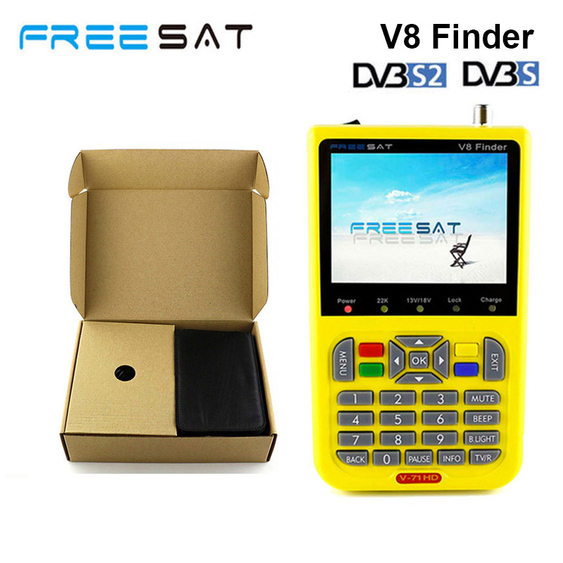 Freesat v8 finder Satellite Finder HD Ultra-Fast Compact DVB-S DVB-S2 Signal Meter Receiver better than Satlink WS-6933