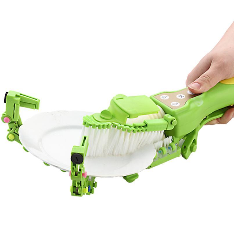 1 ピースハンドヘルド自動食器洗いブラシ家庭用洗濯機、電気抗菌キッチン食器ボウラー  グループ上の ホーム&ガーデン からの 掃除ブラシ の中 1