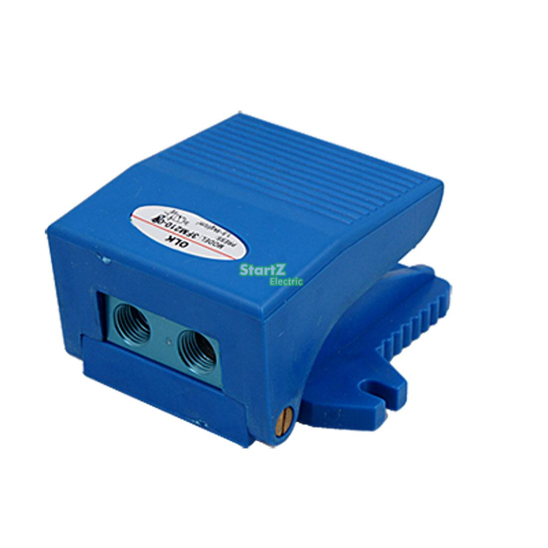 2 Way 2 Position Foot Operate Pneumatic Pedal Valve Blue 3FM210-082 Way 2 Position Foot Operate Pneumatic Pedal Valve Blue 3FM210-08