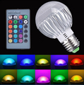 Hot Sale E27 GU10 B22 GU5.3 E14 Soket 9W RGB LED Light AC85-265V 16 Colors Changing LED Bulb Lamp