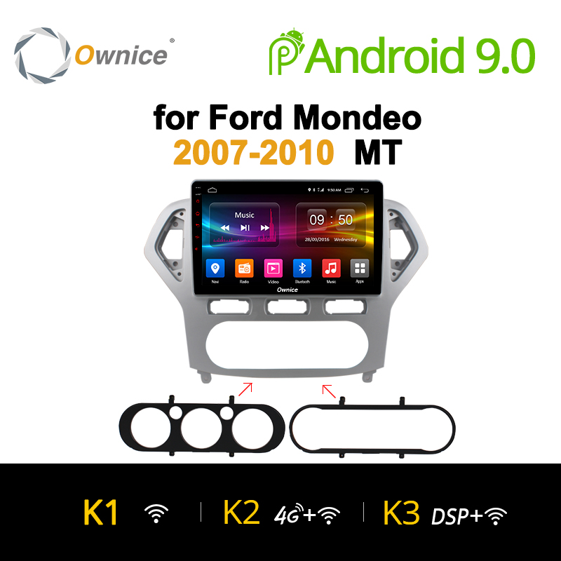 Ownice K1 K2 K3 Android 8.1 Octa Core Car DVD GPS Navigation Radio 2 din Auto Player for Ford Mondeo 2007 2010 GPS autoradio