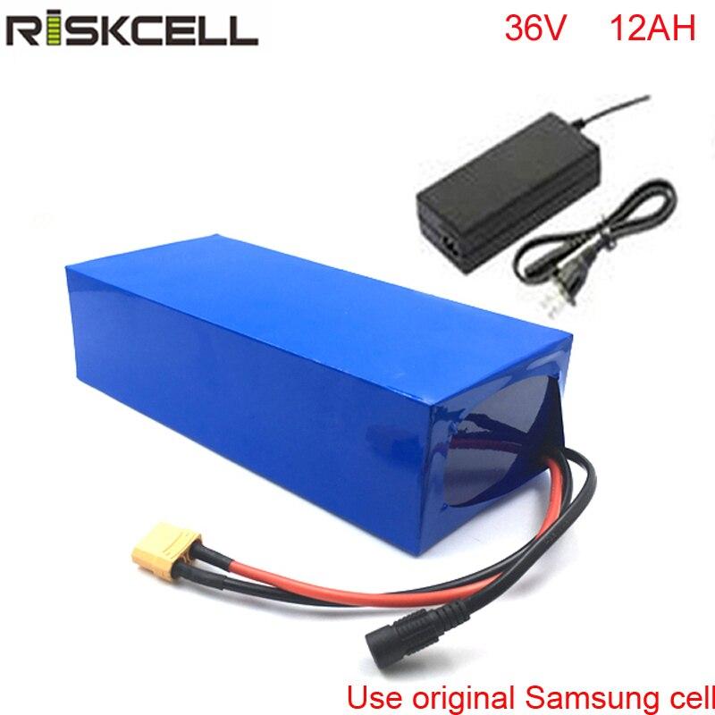 36 v 12Ah eBike Li-ion Batterie Pack 36 v 500 w Recharge 18650 Batterie pour Scooter Électrique Citycoco Pour Samsung cellulaire