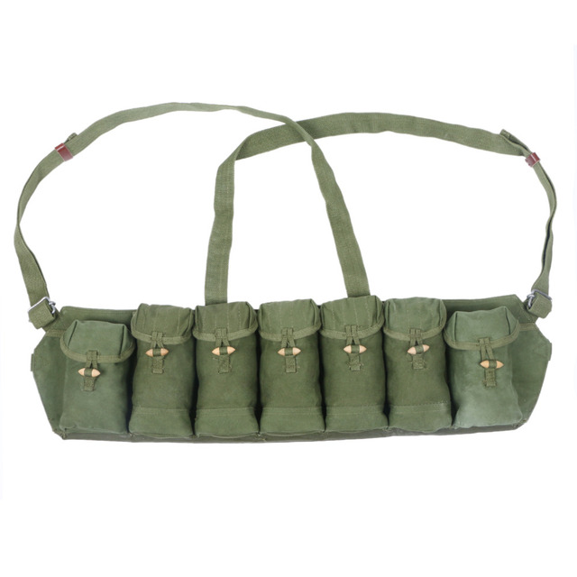 Loklode Chinese Military Surplus SKS Type 63 Chest Rig Bandolier Ammo Pouch-31192