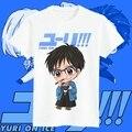 Anime Yuri!!! no Gelo Traje Cosplay Camisas Victor Nikiforov Yuri Plisetsky Yuuri Katsuki Impressão Camiseta Manga Curta