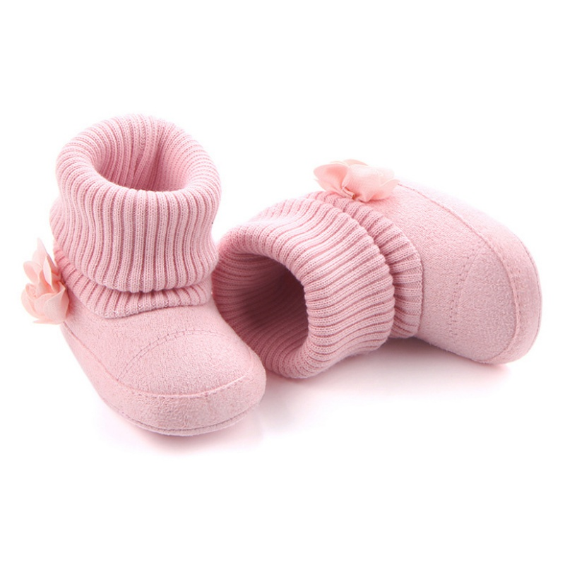 2018 Autumn Winter Children Shoes Cute Baby First Walkers Kids Newborn Toddler Super Warm Flower Boots