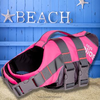 JANPET 3 kolor letnia kamizelka ratunkowa dla psów 3M odblaskowa kamizelka ratunkowa dla psów odzież ochronna dla psów wodoodporna dla psów S-XXL tanie i dobre opinie Poliester Lato Yellow Red Pink Dog life jackets 600D Oxford Nylon 3M Reflective Pool Boating Swimming Rafting Surfing